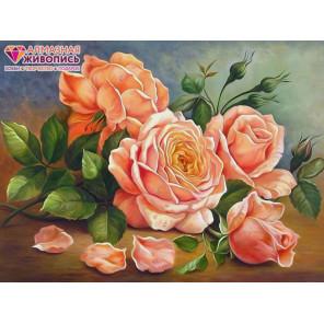 Ароматные розы Алмазная вышивка мозаика АЖ-1514