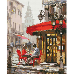 Влюбленные в кафе Алмазная мозаика на подрамнике