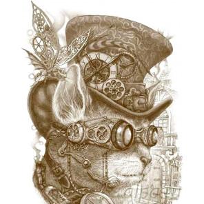 Кот Стимпанк Алмазная мозаика на подрамнике