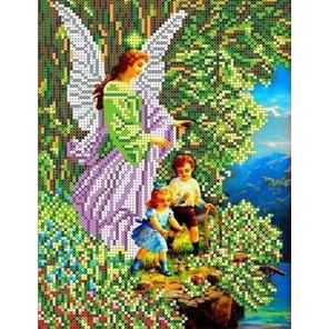 Ангел и дети Набор для вышивки бисером Каролинка