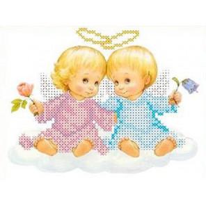 Два ангелочка Набор для вышивки бисером Каролинка