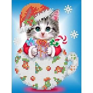 Снежок Набор для вышивки бисером Каролинка