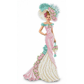 Дама с сумочкой Набор для вышивки бисером Каролинка