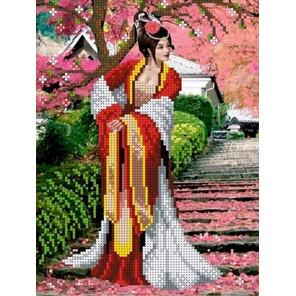 Японский сад Набор для вышивки бисером Каролинка
