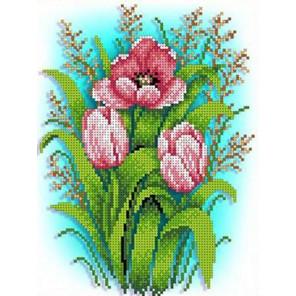 Тюльпаны Набор для вышивки бисером Каролинка