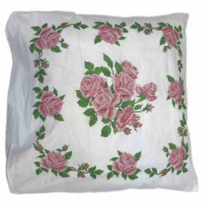 Розы Набор для вышивания наволочки Каролинка
