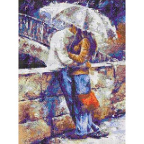 Двое под зонтом Набор для вышивания Каролинка