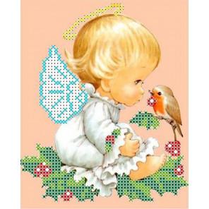 Разговор с птичкой Канва с рисунком для вышивки бисером