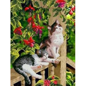 В саду Канва с рисунком для вышивки бисером