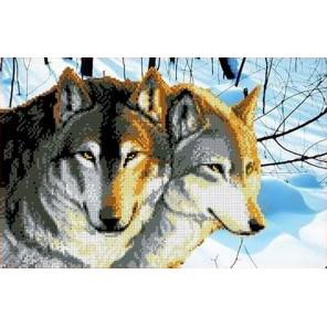Волки Канва с рисунком для вышивки бисером