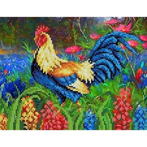 Петушок Канва с рисунком для вышивки бисером