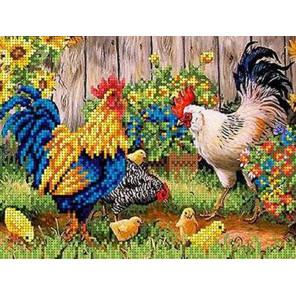 Птичий двор Канва с рисунком для вышивки бисером