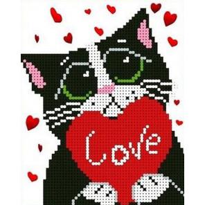 Мартовский кот Канва с рисунком для вышивки бисером