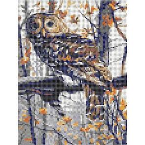 Филин Канва с рисунком для вышивки бисером