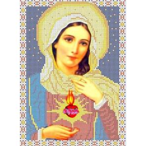 Святое Сердце Марии Канва с рисунком для вышивки бисером