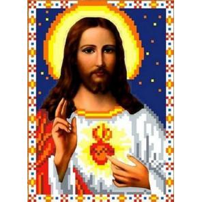 Святое Сердце Иисуса Канва с рисунком для вышивки бисером