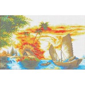 На закате Канва с рисунком для вышивки бисером