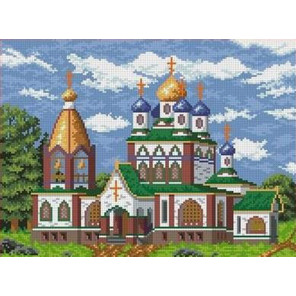 Церковь Канва с рисунком для вышивки бисером