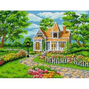 Загородная вилла Канва с рисунком для вышивки бисером