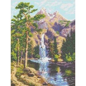Горный водопад Канва с рисунком для вышивки бисером