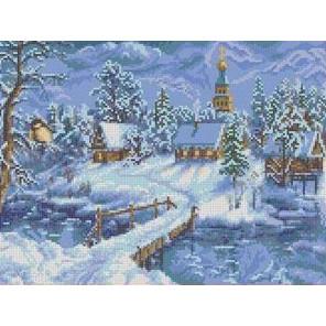 Зимний вечер Канва с рисунком для вышивки бисером