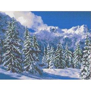 Зимний пейзаж Канва с рисунком для вышивки бисером