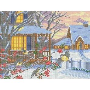 Морозный вечер Канва с рисунком для вышивки бисером