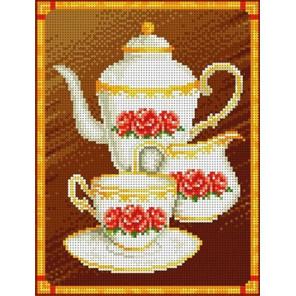 Кофейный набор Канва с рисунком для вышивки бисером