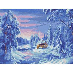 Зимняя сказка Канва с рисунком для вышивки бисером