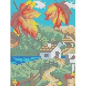 Осень Канва с рисунком для вышивки бисером