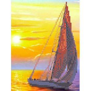 Парус на закате Канва с рисунком для вышивки бисером