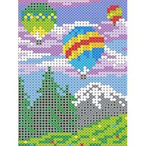 Воздушные шары Канва с рисунком для вышивки бисером