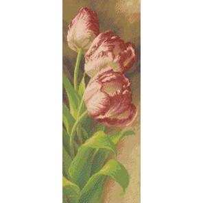 Тюльпаны Канва с рисунком для вышивки бисером