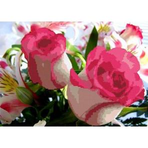 Розовая фантазия Канва с рисунком для вышивки бисером