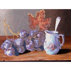 Ветка винограда Канва с рисунком для вышивки бисером