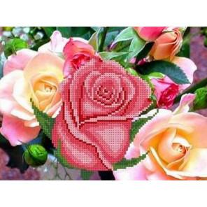 Розовый цвет Канва с рисунком для вышивки бисером