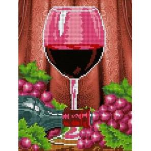 Бокал вина Канва с рисунком для вышивки бисером