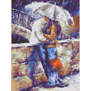 Двое под зонтом Канва с рисунком для вышивки бисером