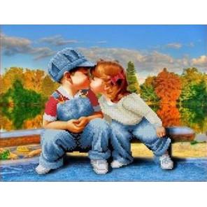 Первый поцелуй Канва с рисунком для вышивки бисером