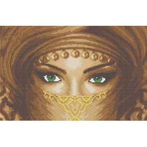 Восточные глаза Канва с рисунком для вышивки бисером
