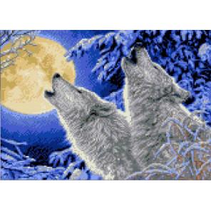 Лунная соната Канва с рисунком для вышивки бисером