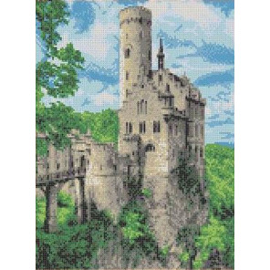 Замок Канва с рисунком для вышивки бисером