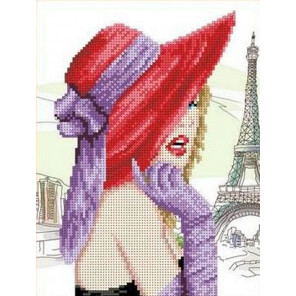 Парижанка Канва с рисунком для вышивки бисером
