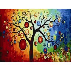 Дерево Раскраска по номерам акриловыми красками на холсте Menglei