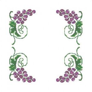 Виноградная лоза Набор для вышивания салфетки Каролинка