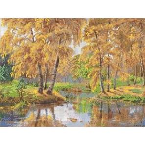 Осень в отражении Канва с рисунком для вышивки Каролинка