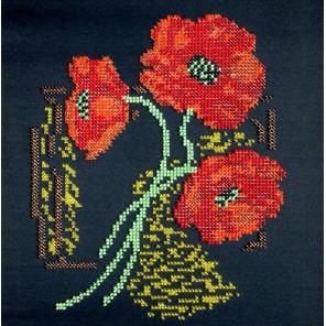 Маки Набор для вышивки бисером FeDi