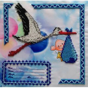 Метрика для мальчика Набор для вышивки бисером FeDi