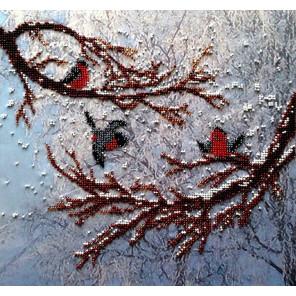 Снегири Набор для вышивки бисером FeDi