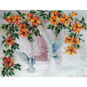 Голуби Набор для вышивки бисером FeDi